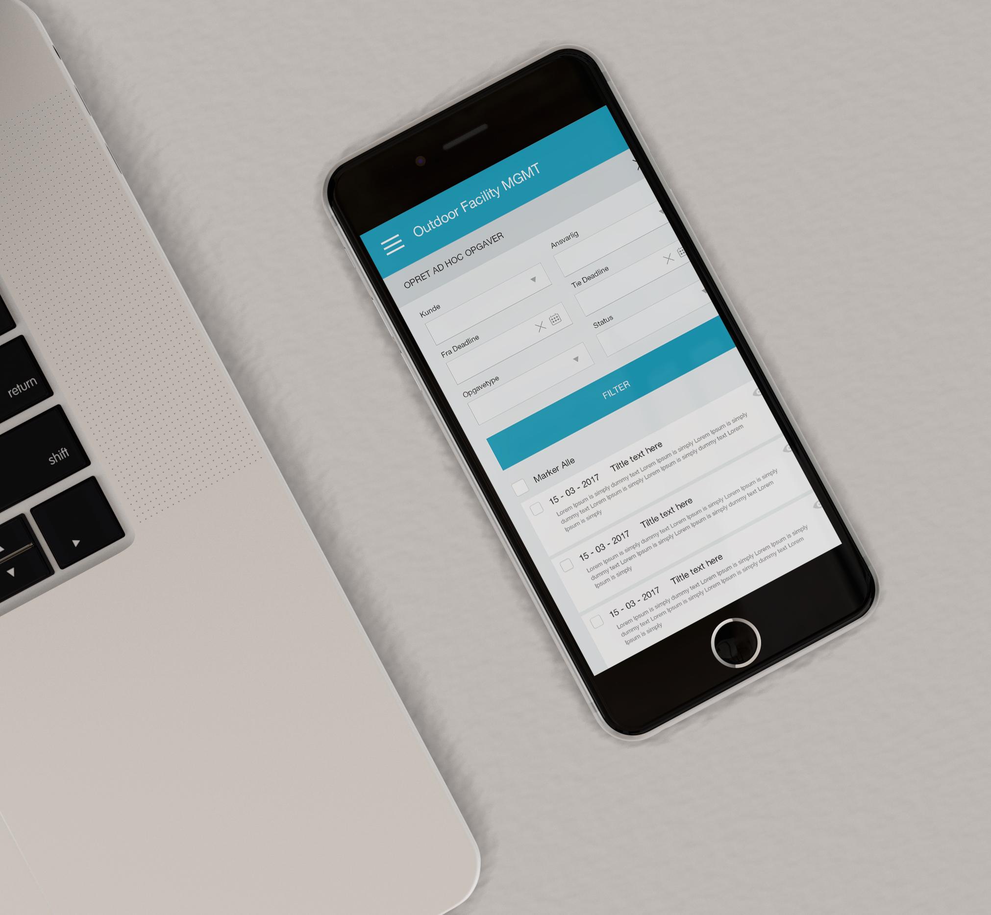 Sagshåndtering app